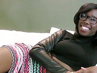 Ebony teen gets facial
