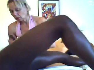 mom gives a massage and handjob to black man