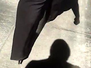 Fine ass big booty milf in black dress pants 2