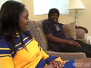 Ebony cherry coed analized on her best day
