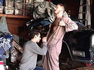 Spencer gets his ass stretched by a black big cock