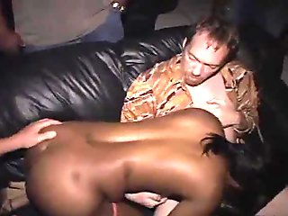 Nasty Natalie Bitch Blowbang in Theater