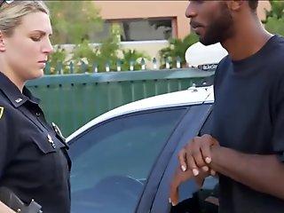 Sex Crazed Female Cops Fuck Criminal With Big Black Weapon