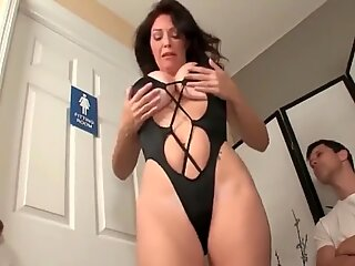 Angry MOM Jerks off my Cock
