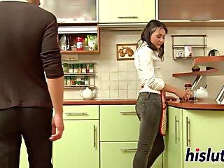 Hot ebony babe goes crazy segment