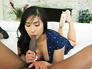 Busty oriental babe analy stuffed with BBC