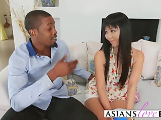 Cute Asian babe Marica Hase getting her ass fucked hard by BBC