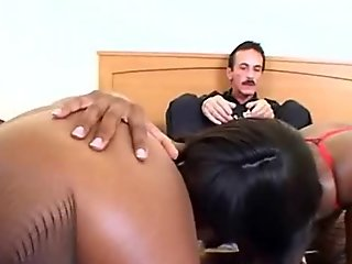 Threesome Afro Ass Licking And Fucking Interracial