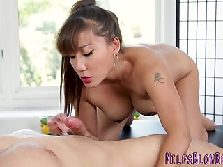 Hot asian milf pov sucks