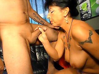 XXX OMAS - German brunette granny Jenny K. likes it rough