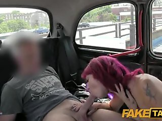 FakeTaxi - Punk rock chick sex in black cab