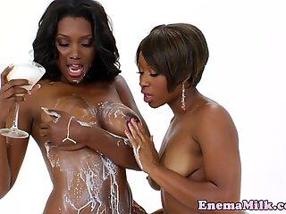 Bigbooty black enema lezzies squirting milk