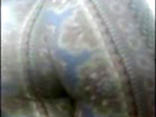Ebony Teen Booty jiggle in pattern leggings
