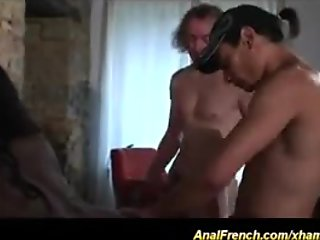french ebony chicks first anal DP